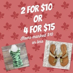 4 items for $15  !! Offer me $15 for 4 items